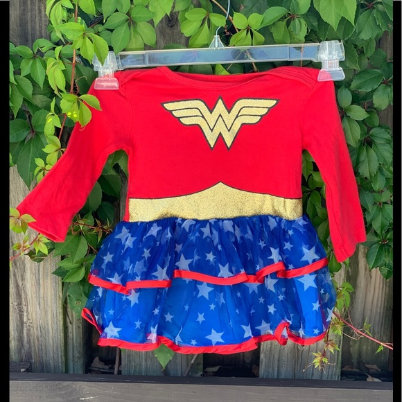 Other - Wonder Woman Outfit Costume Cape 12-18 Months